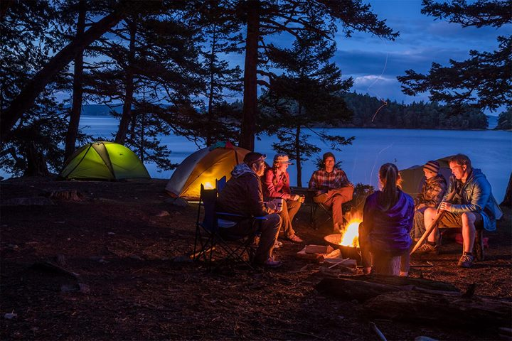 What should you take with you while camping?